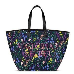 Victoria Secret tote floral bag NWT
